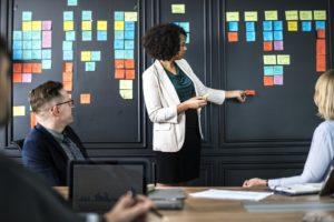 réunion en mode projet agile