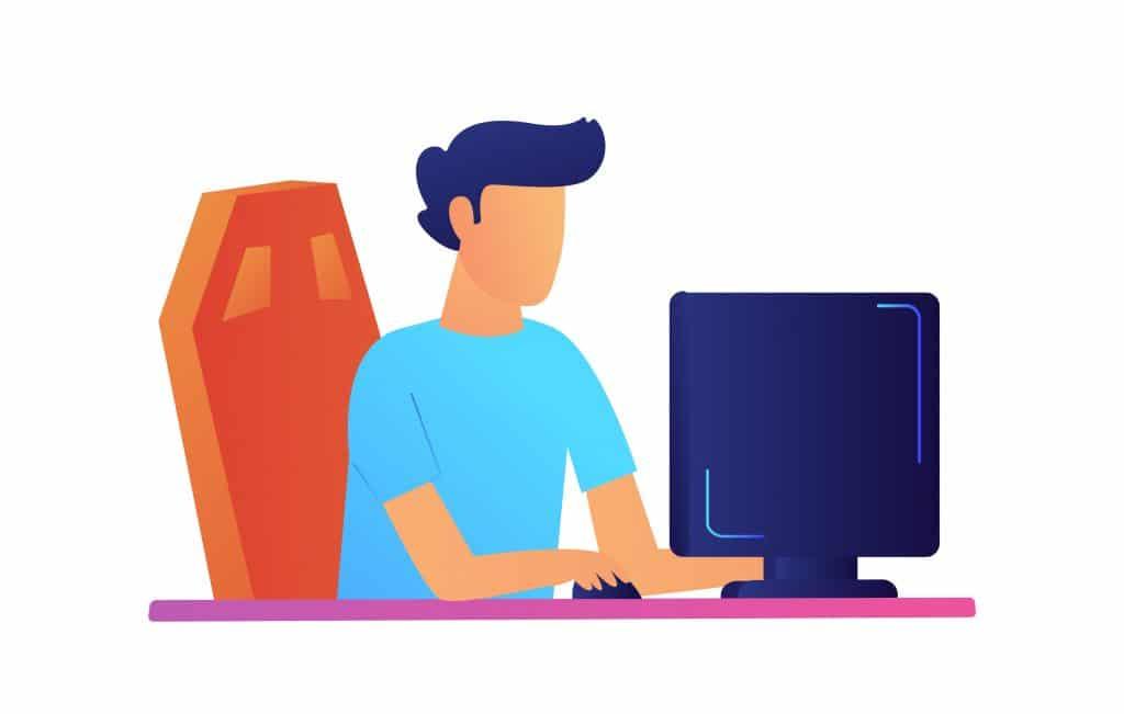 Programmeur travaillant sur ordinateur